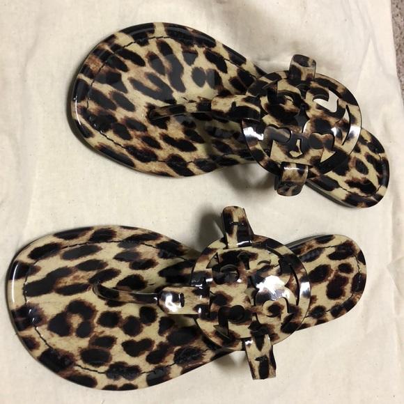 leopard tory burch miller sandal
